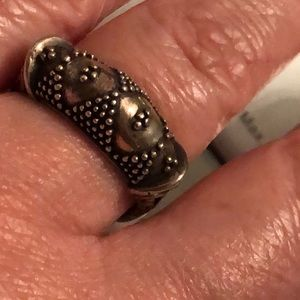 .925 Balinese sterling silver ring